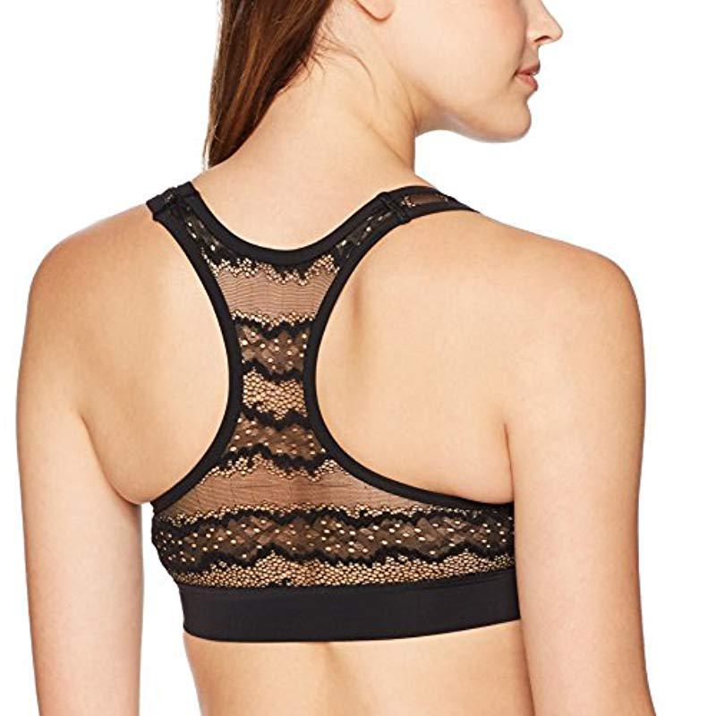 3afef27ae8fd6 Lyst - Calvin Klein Ck Black Logo Electric Unlined Bralette in Black ...