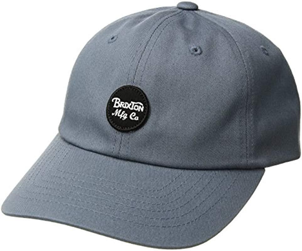 10dd05a18b0 Brixton - Gray Wheeler Low Profile Unstructured Adjustable Hat for Men -  Lyst. View fullscreen