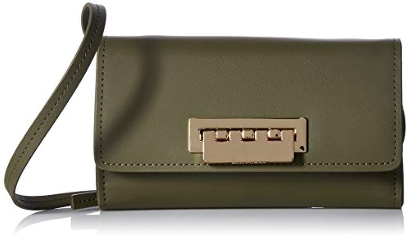 6b6b16fb1c Zac Zac Posen. Women s Green Eartha Iconic Small Phone Wallet Crossbody Moss