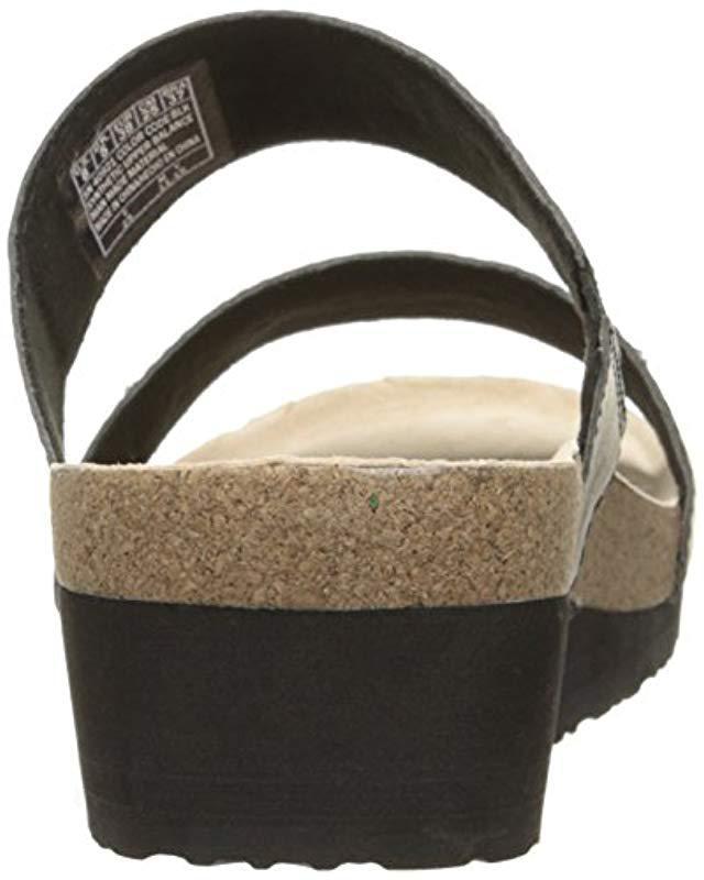 9cb8708df6b0 Lyst - Skechers Troos Skitter Wedge Sandal in Black