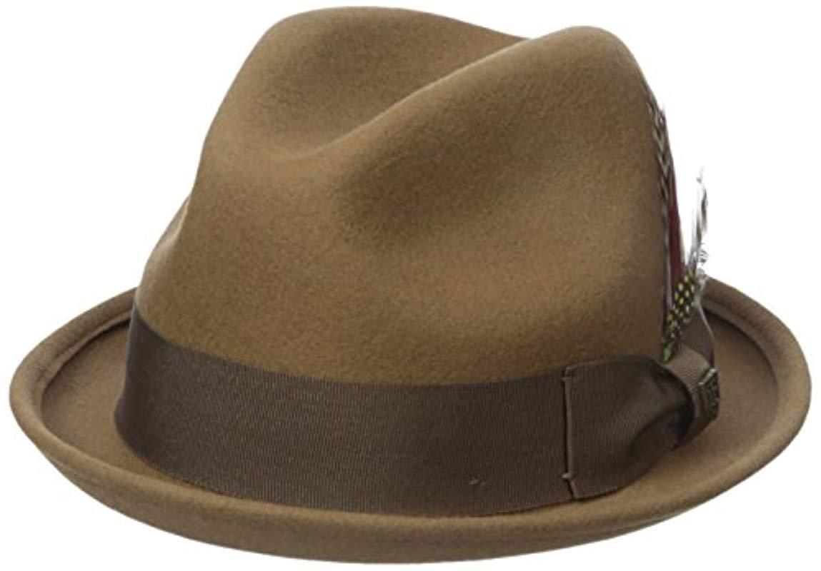 201836907 Lyst - Brixton Gain Fedora Hat in Brown for Men