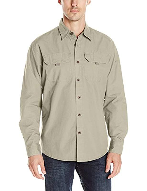 b48392f206e089 Lyst - Wrangler Authentics Big-tall Long Sleeve Canvas Shirt in ...