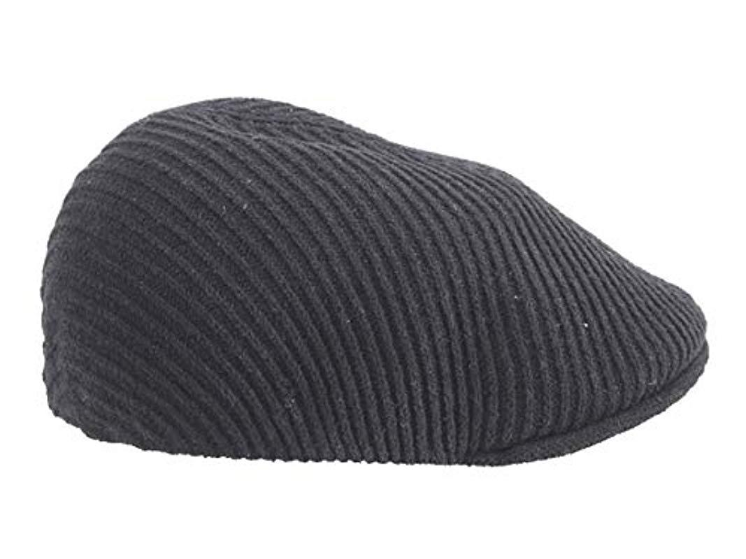 a7e6827413e9a7 Kangol Cord Rib 507 Flat Ivy Cap Hat in Black for Men - Lyst