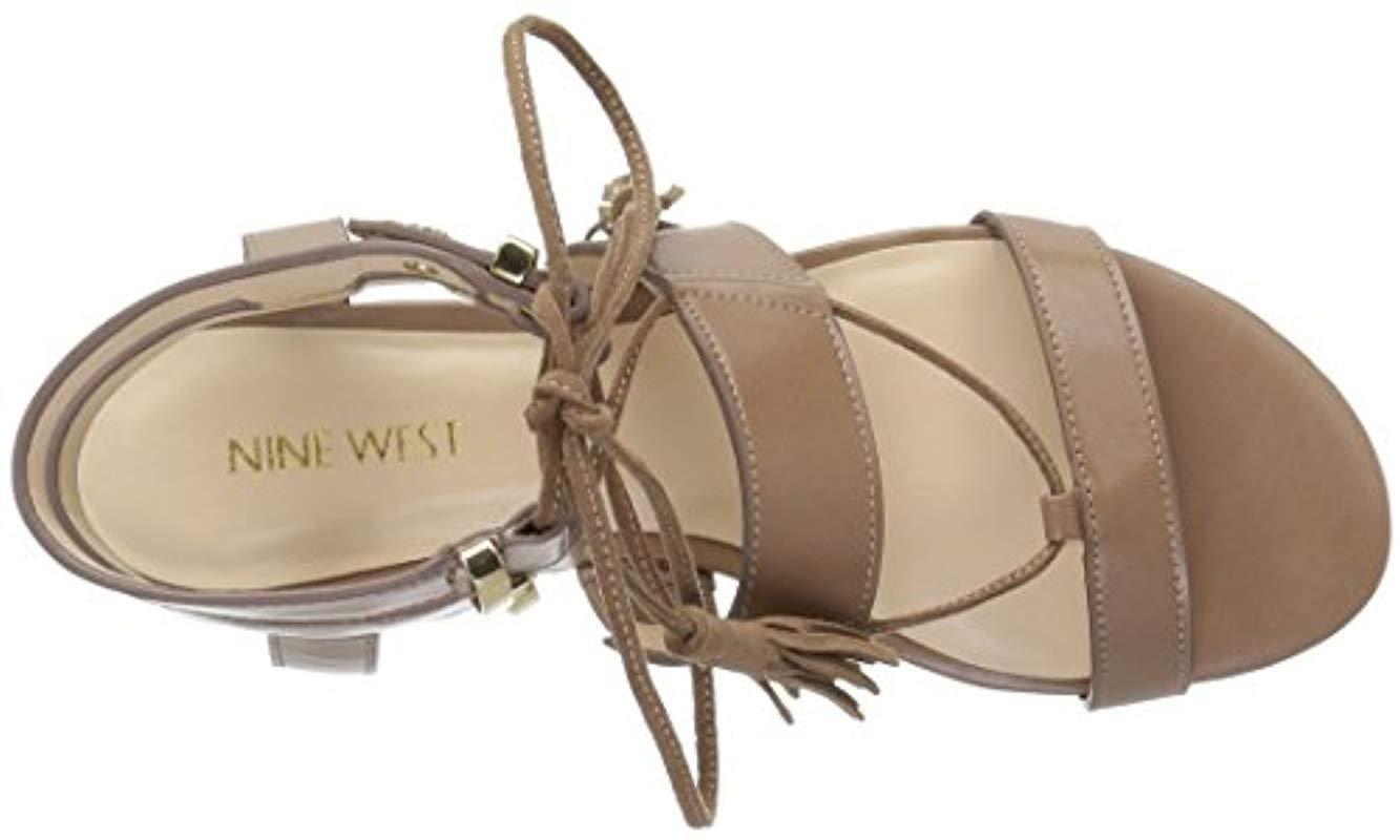f1b7c8fc16c Nine West - Natural Decima Patent Gladiator Sandal - Lyst. View fullscreen