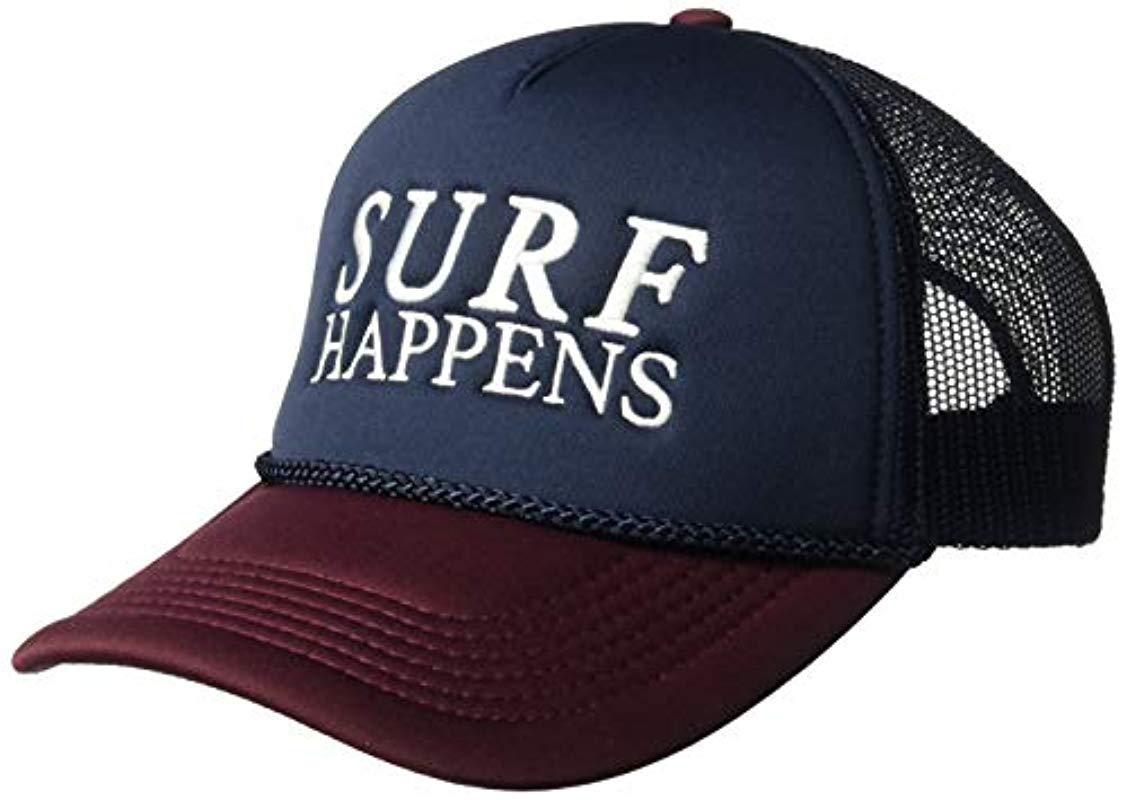 O neill Sportswear. Women s Blue Surf Report Screen Print Foam Trucker Hat adeed0a48390