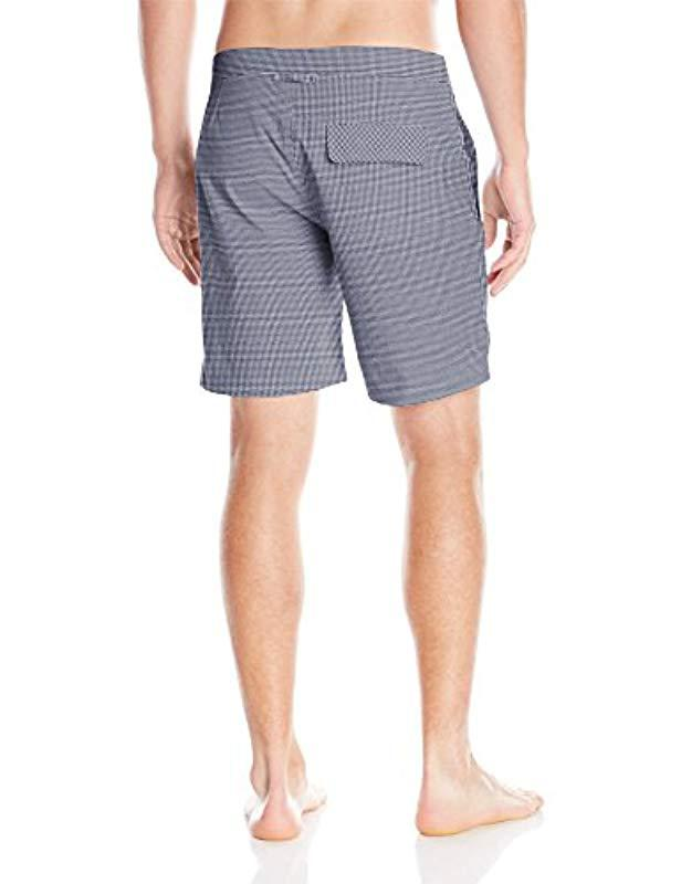 13386843340ab Lyst - Onia Calder 7.5 Inch Stretch Pattern Swim Trunk in Black for Men - Save  24%