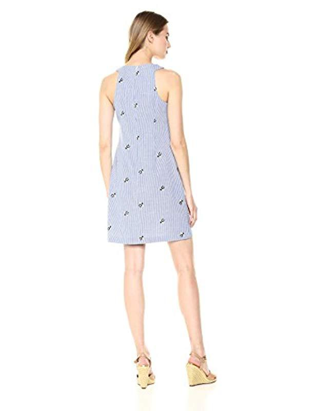 6f10021c99a70 Lyst - Trina Turk Trina Ruffled Sleeveless Dress in Blue