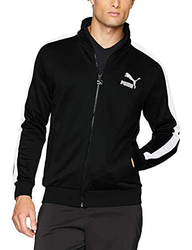 77f8f618bda0 Lyst - PUMA Archive T7 Track Jacket in Black for Men - Save 76%
