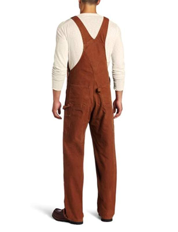 450490604c Lyst - Carhartt Sandstone Unlined Bib Overall R06 in Brown for Men - Save  55%