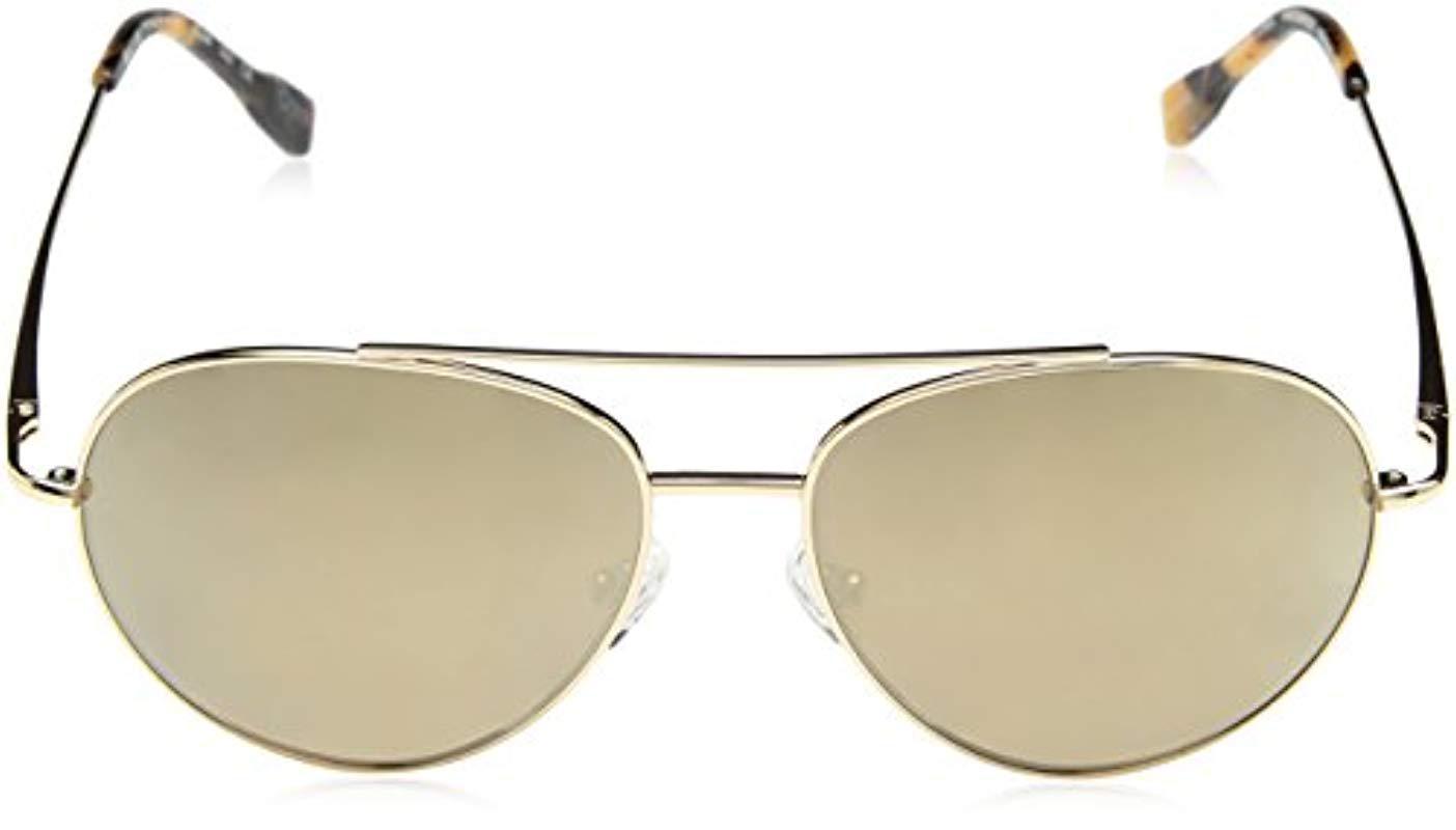 586c8849d32 ... Metallic Elie Tahari El238 Gld Aviator Sunglasses - Lyst. View  fullscreen