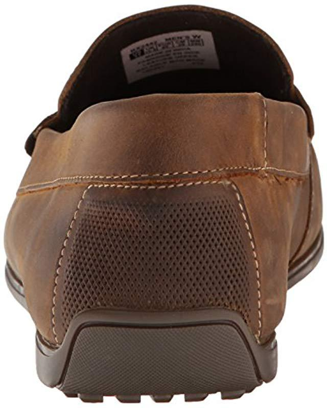 9dd06113fbd Lyst - Rockport Bayley Penny Shoe in Brown for Men - Save 60%