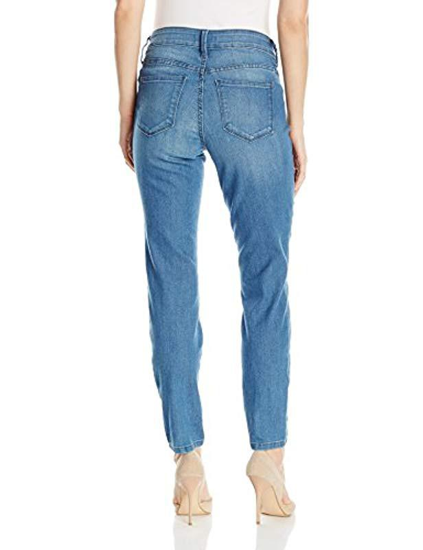 f6c71aed9ae2 Lyst - NYDJ Petite Size Alina Skinny Convertible Ankle Jeans in Blue - Save  69%