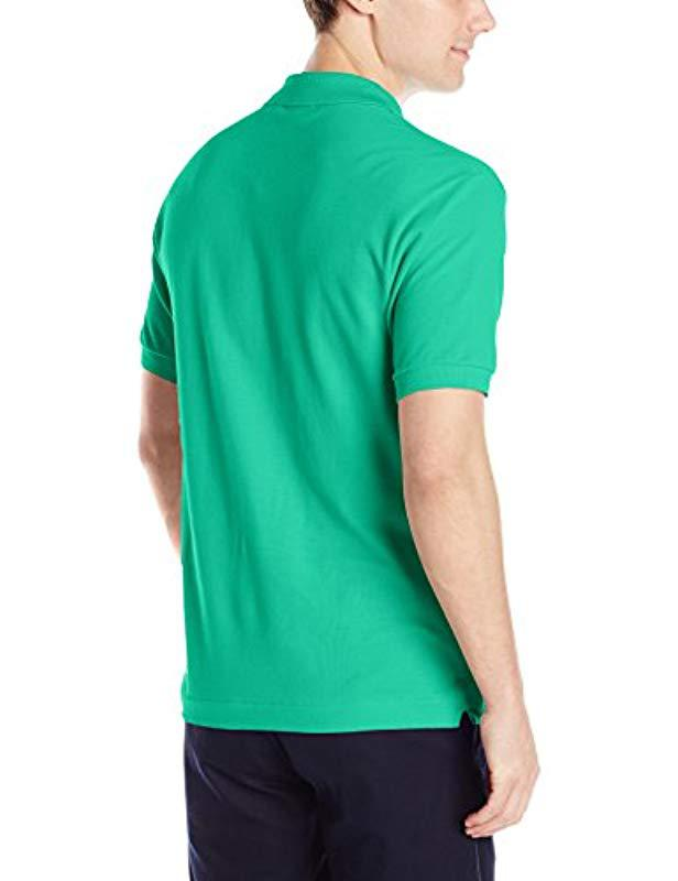 476d318f Lyst - Lacoste Short Sleeve Pique L.12.12 Classic Fit Polo Shirt, Past  Season in Green for Men - Save 63%
