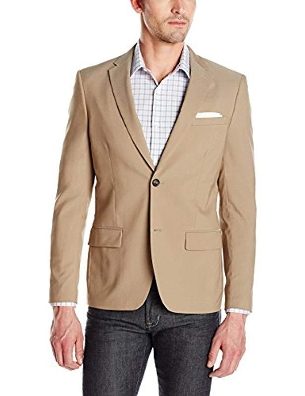 0fea47f575 Lyst - Perry Ellis Very Slim Solid Twill Suit Jacket in Natural for ...