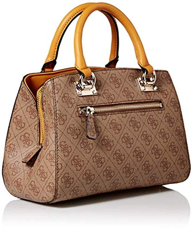 8bd359b1ebb Guess - Brown Kathryn Small Girlfriend Satchel - Lyst. View fullscreen