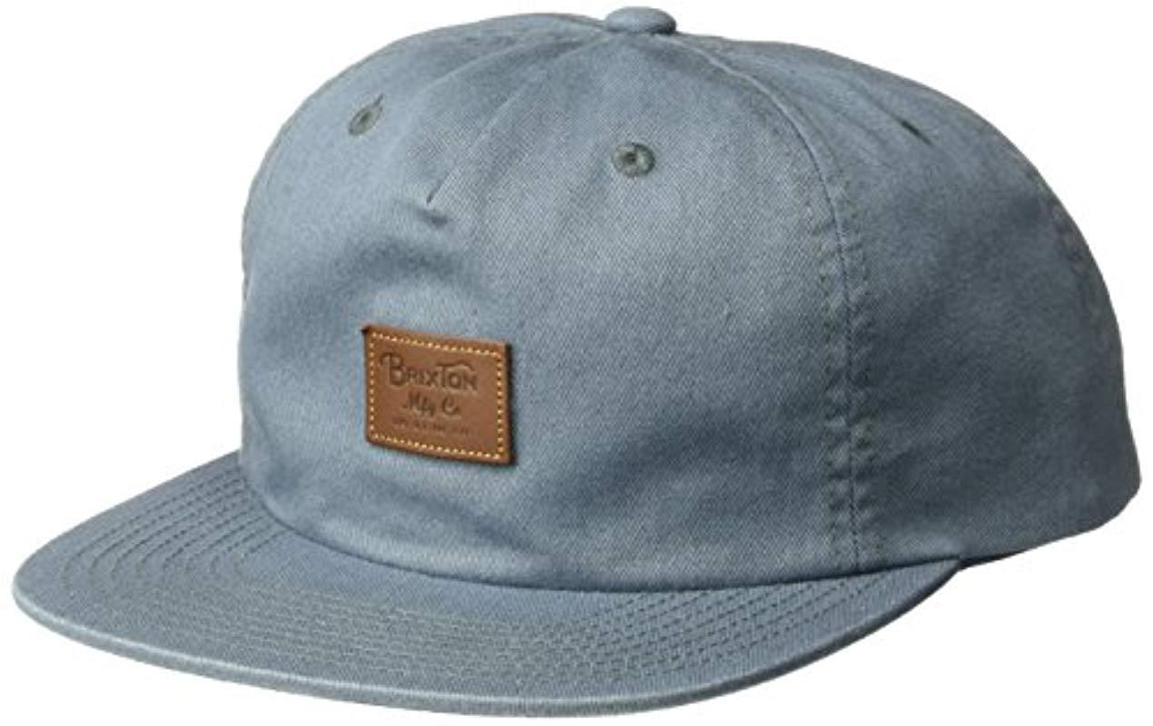 f8467b061d6 Brixton. Men s Blue Grade Ii Medium Profile Adjustable Unstructured Snapback  Hat