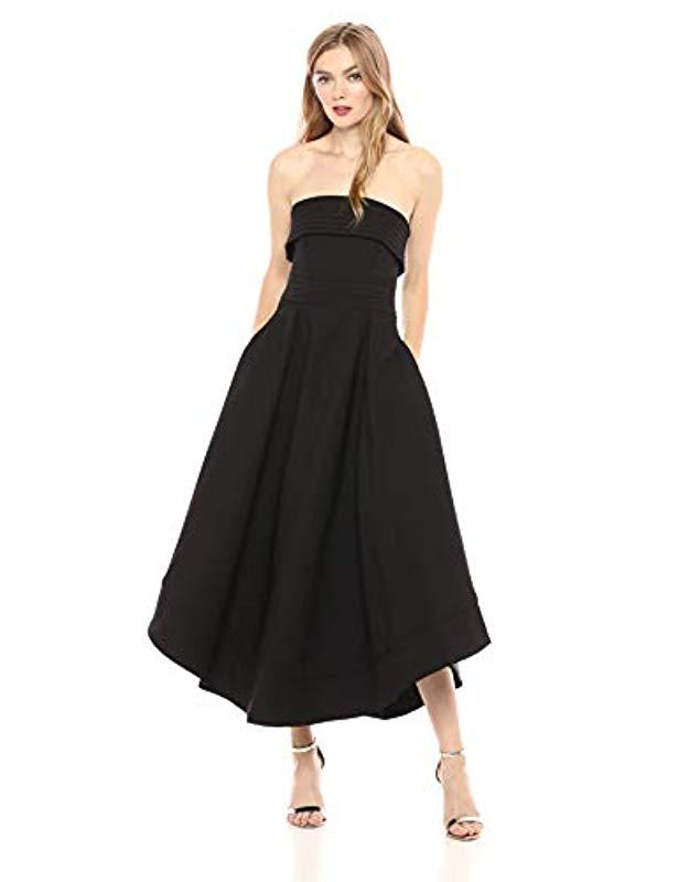 85227832a166 Lyst - C meo Collective Visceral Strapless High Low Fit And Flare ...