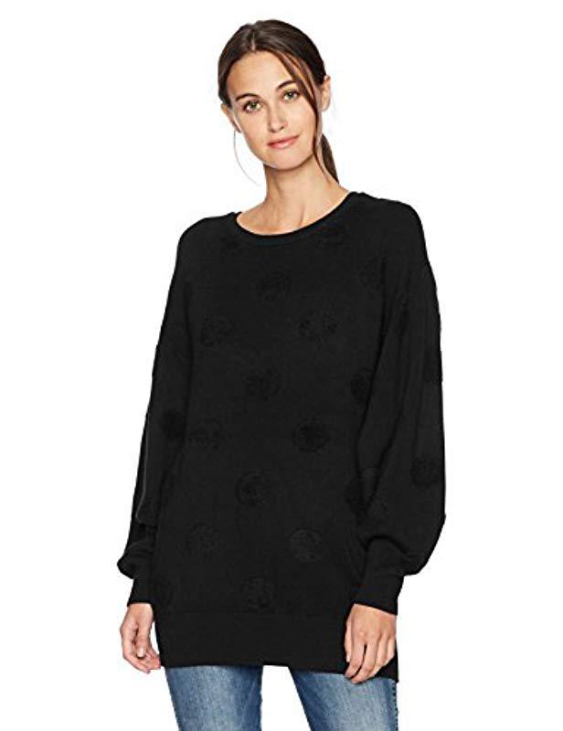 Lyst - Vero Moda Baldwin Oversize Textured Sweater in Black 4b9622b46253