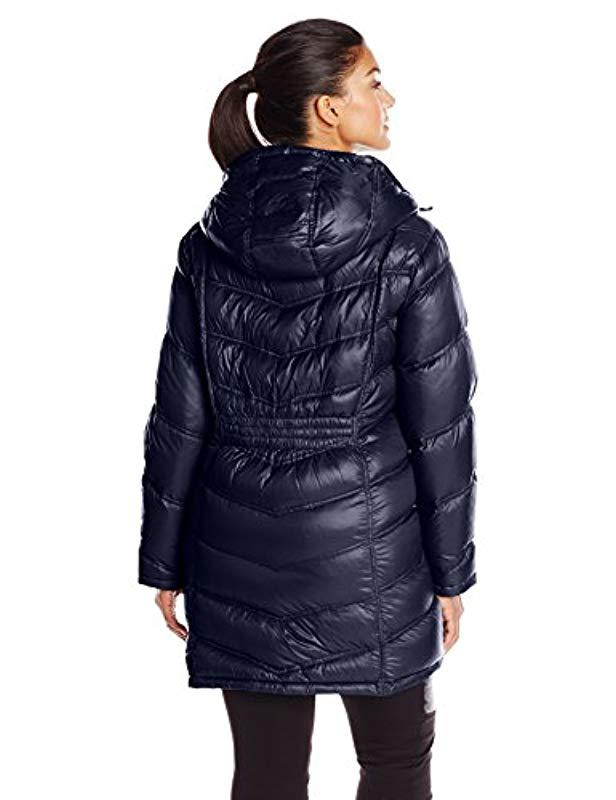 b3db62246fc Lyst - Calvin Klein Plus-size Packable Down Coat in Blue - Save 23%