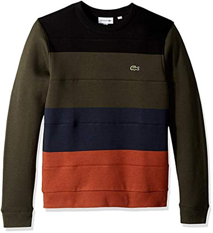 Long Block Lacoste Sweatshirt Black Sleeve In For Men Multi Lyst Color 65wUZqqS