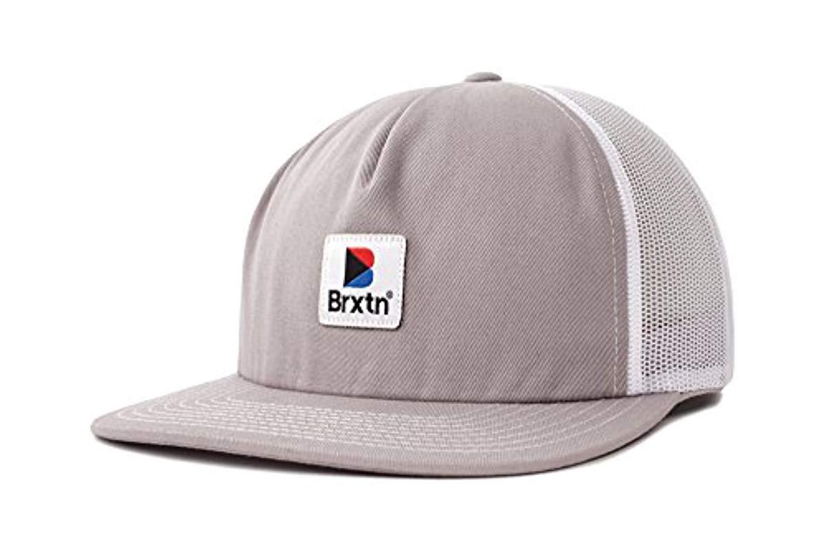 0f9db40321f3c Brixton. Men s Gray Stowell Medium Profile Unstructured Adjustable Mesh Hat