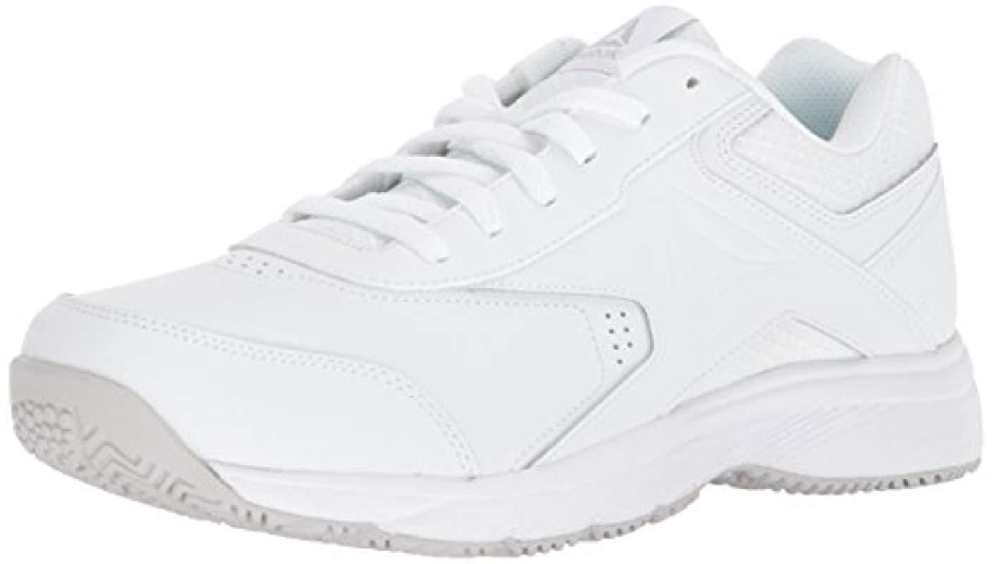 Lyst - Reebok Work N Cushion 3.0 4e Walking Shoe in White for Men ... 32d920380