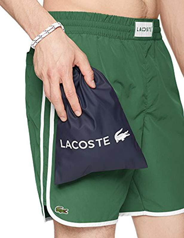 98685723bdb97 Lyst - Lacoste Nylon Side Stripe Long Length