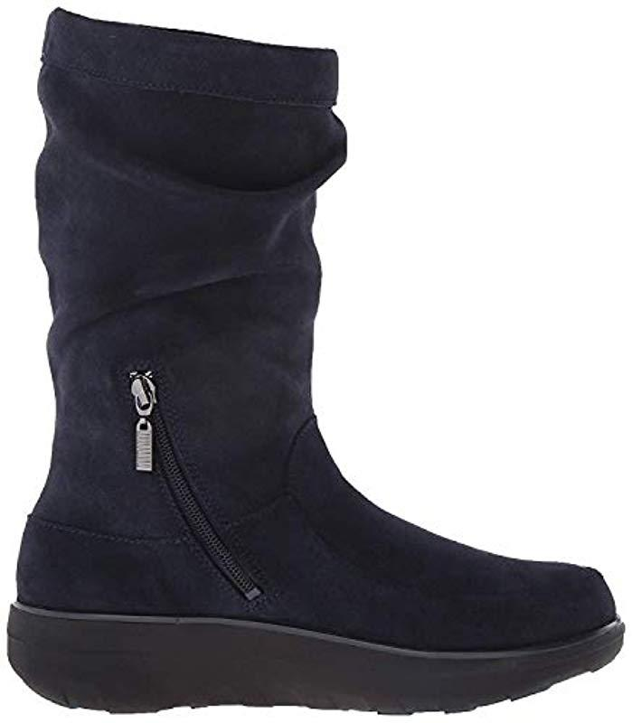 ffde6137a5e72e Fitflop - Black Loaff Slouchy Knee Suede Slouch Boot - Lyst. View fullscreen