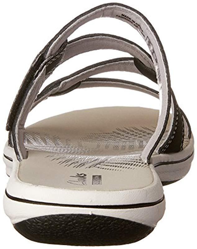 801e9e336 Lyst - Clarks Brinkley Lonna Slide Sandal Black 5 M Us in Black