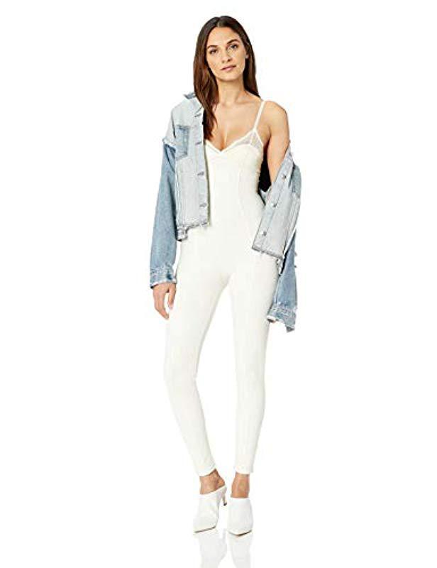 a765d74276 Lyst - PUMA Fenty Lace Detail Full Bodysuit in White