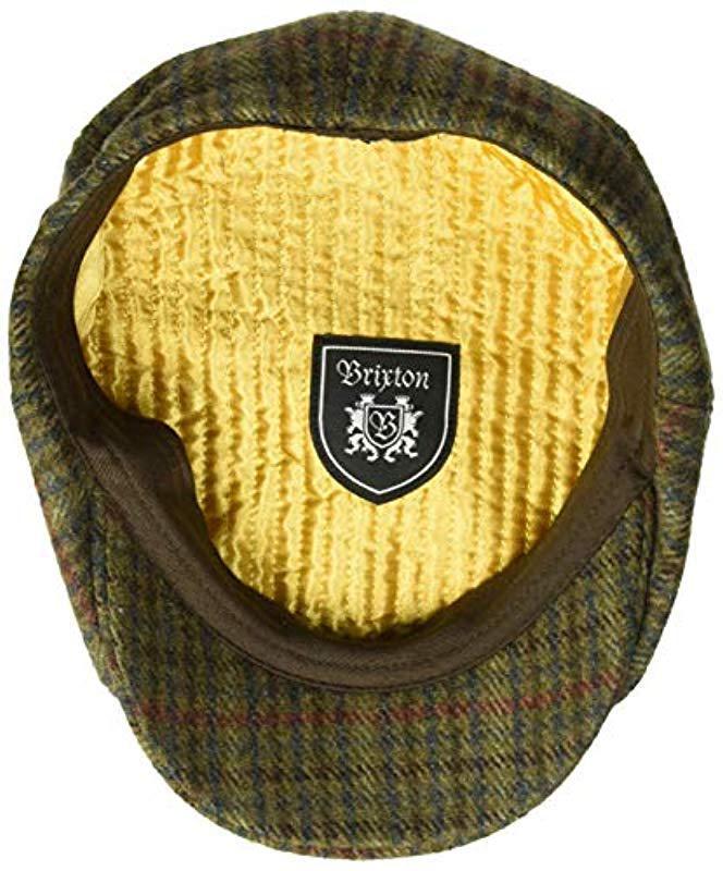 79adc6af Brixton - Green Brood Snap Cap (moss/navy) Caps for Men - Lyst. View  fullscreen