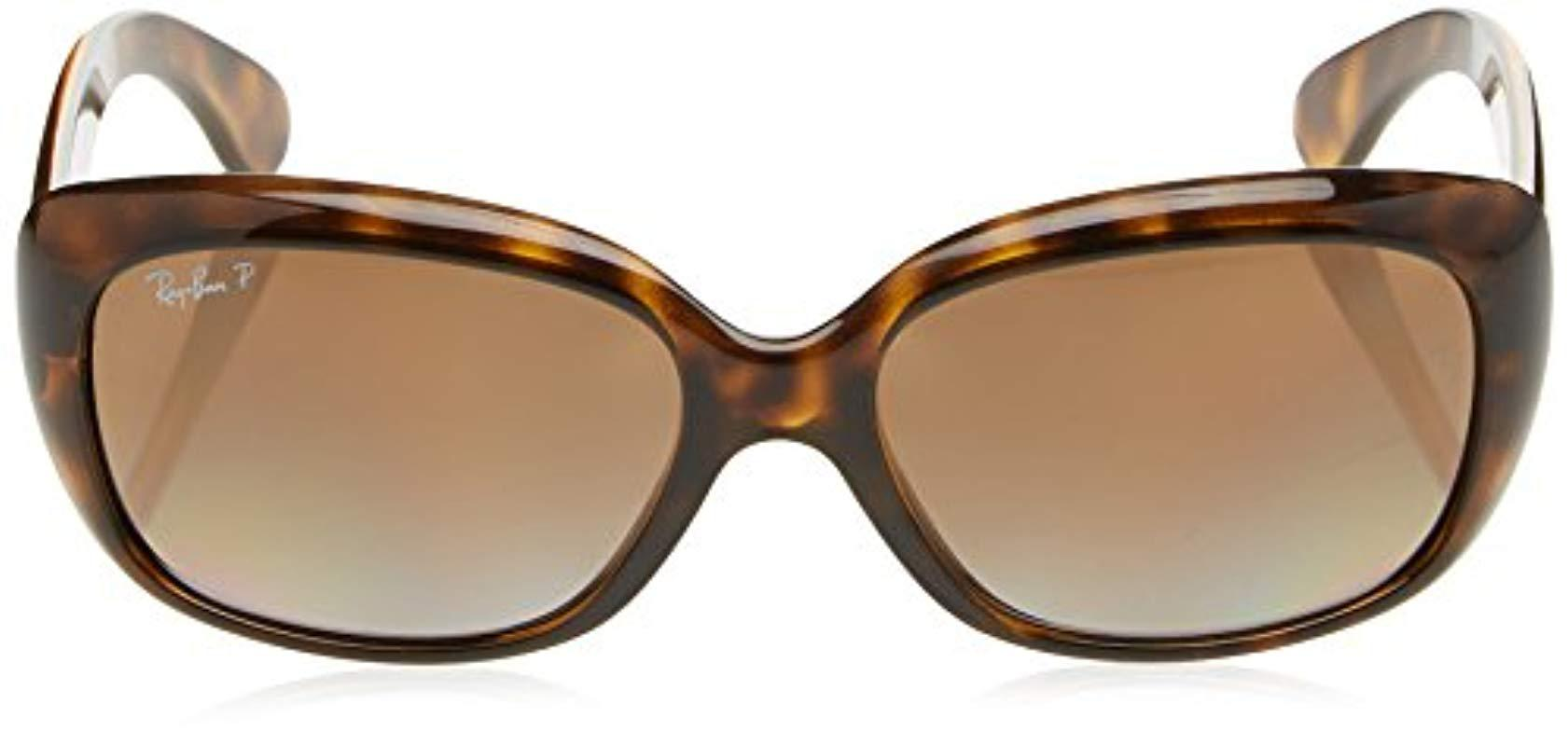 46dc272a1f9 Ray-Ban - Brown Jackie Ohh Polarized Rectangular Sunglasses Light Havana 58  Mm - Lyst. View fullscreen