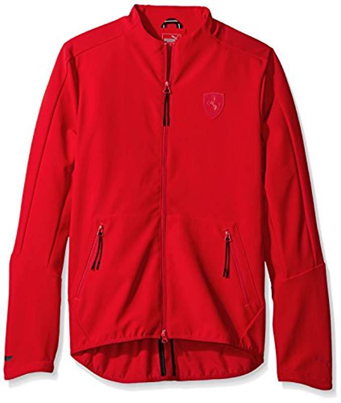 6d88e1b3f9768 PUMA Ferrari T7 Jacket in Red for Men - Save 26% - Lyst