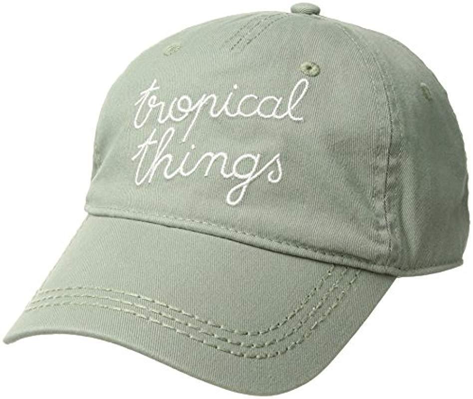 b570de134bd Lyst - Roxy Dear Believer Baseball Hat Size in Green for Men - Save 74%