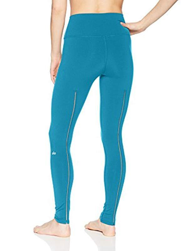 49f1f7f88761fc Lyst - Alo Yoga High Waist Dash Legging in Blue - Save 10.57692307692308%