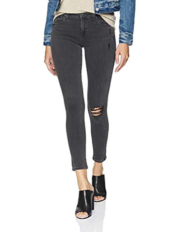 63d6570205fb0 Lyst - AG Jeans Legging Ankle Super Skinny in Black - Save 65%