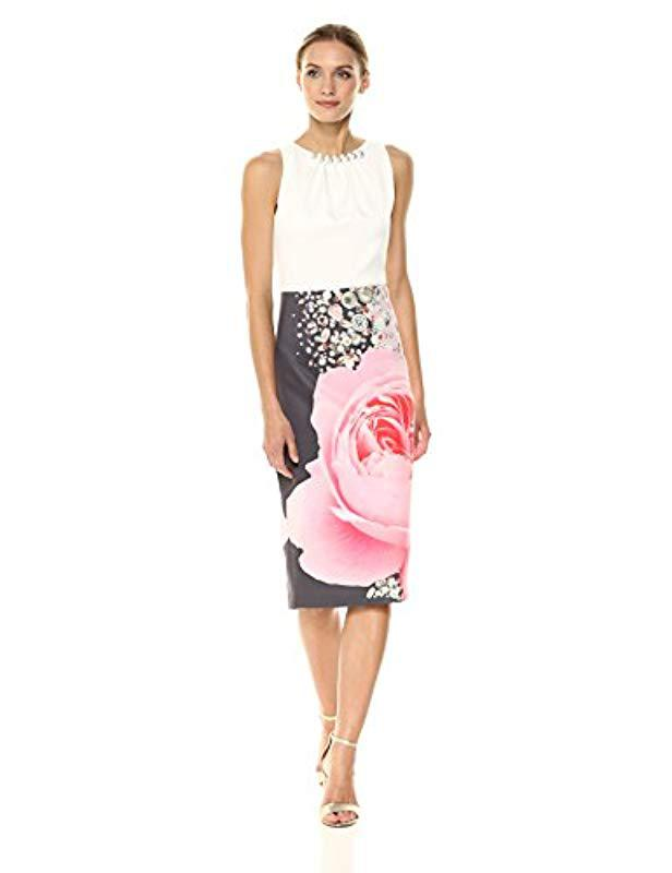 58d9fab57c Lyst - Ted Baker Rubelle Dress in Natural