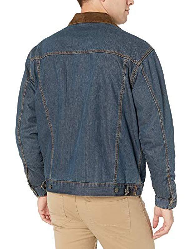 14d6d8a400 Wrangler - Blue Western Concealed Carry Blanket Lined Denim Jacket for Men  - Lyst. View fullscreen