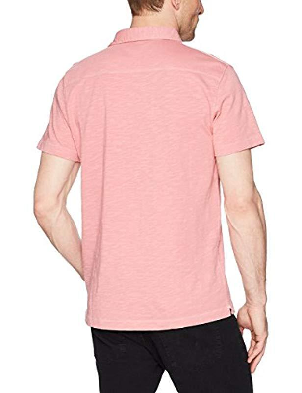 a642823a Lyst - French Connection Short Sleeve Solid Color Regular Fit Cotton Polo  Shirt in Pink for Men