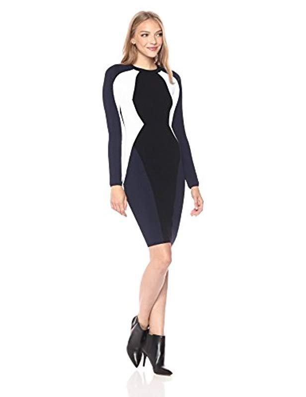 c3899db3d169 Lyst - Kendall + Kylie Bodycon Illusion Dress in Black - Save 3%