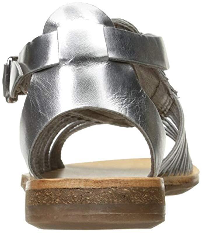 ec4818dd2f8 Lyst - H by Hudson Pansy Multi Flat Sandal in Metallic - Save 17%