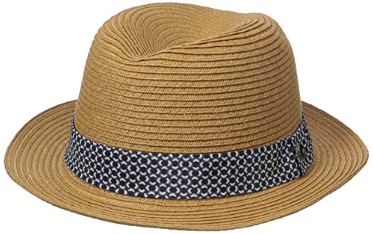 be51880b876 Lyst - Ben Sherman Braided Straw Trilby Hat in Natural for Men