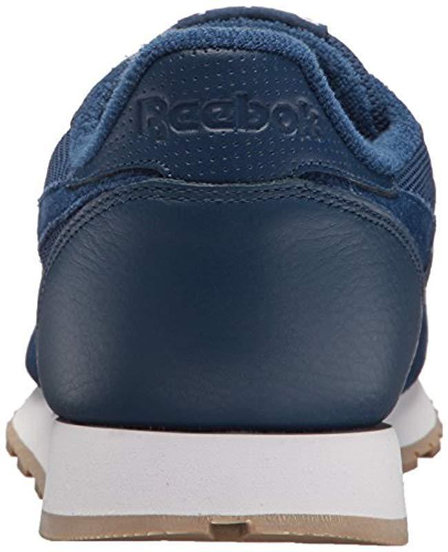 Lyst - Reebok Classic Leather Sneaker in Blue for Men 7241985ec