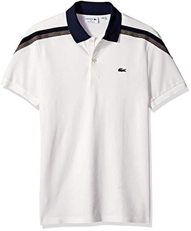 7546d9c8b91f Lyst - Lacoste Short Sleeve Slim Fit Made In France Pique Polo in ...