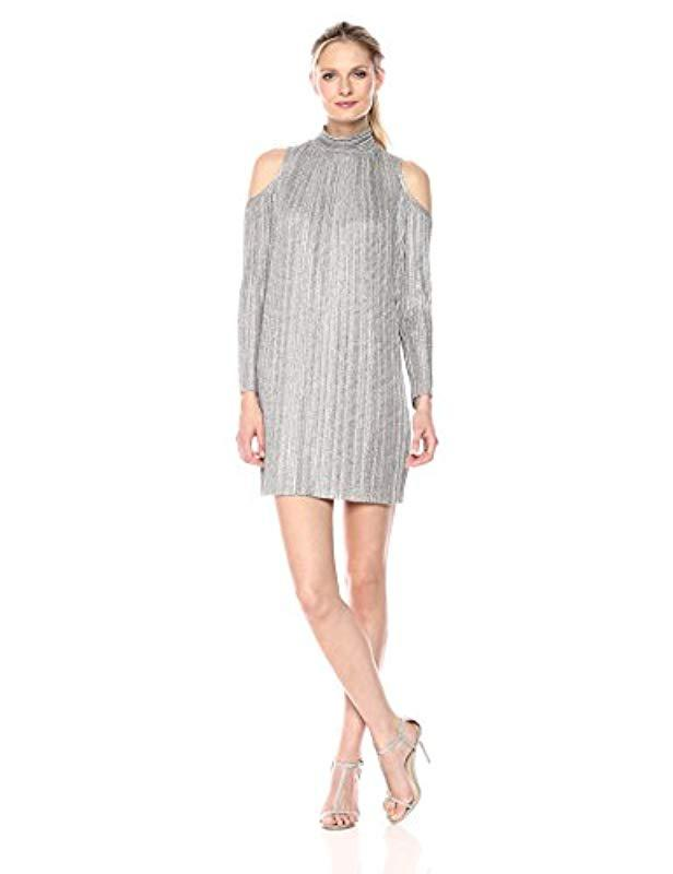 a5006031ff7 Maggy London Knit Cold Shoulder Trapeze Dress in Gray - Save 73% - Lyst