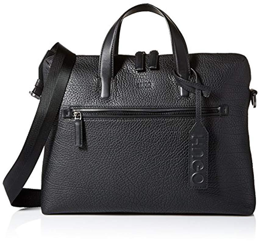 556ea9efd9f5 Lyst - BOSS Hugo By Victorian Leather Single Document Case in Black ...