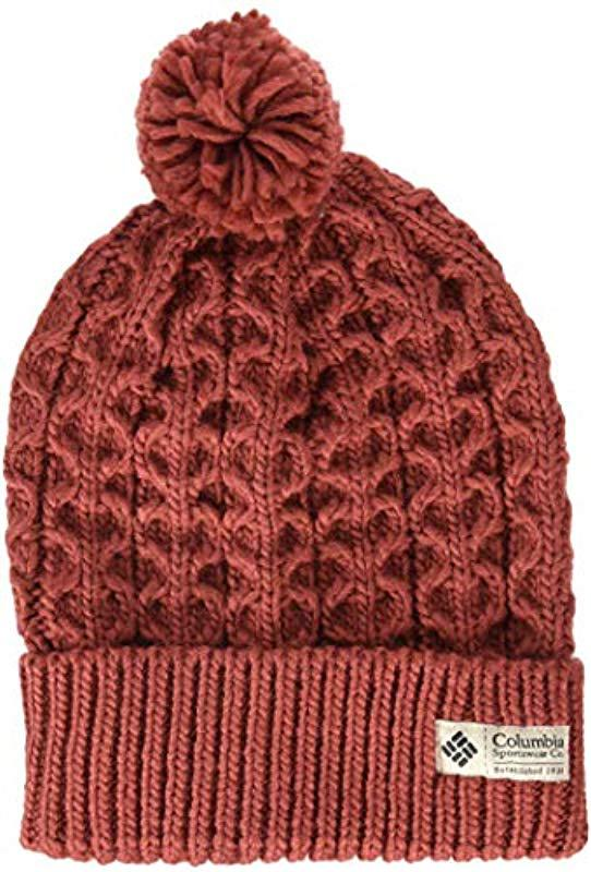 6ed20894a53e2 Lyst - Columbia Hideaway Haven Beanie in Red - Save 16%