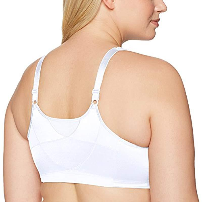 provide large selection of prevalent pretty cheap Women's White 18 Hour Front Close Wirefree Back Support Posture Full  Coverage Bra #e525