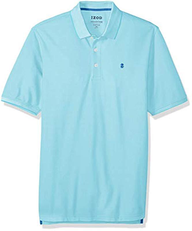 db50224c14 Izod - Blue Big And Tall Advantage Performance Solid Polo Shirt for Men -  Lyst. View fullscreen