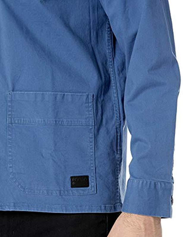 1c41b65364 Lyst - RVCA Couleur Chore Coat in Blue for Men